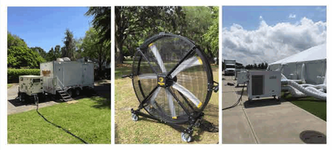 Generator air moving fan tent air conditioner & Event air conditioning rentals